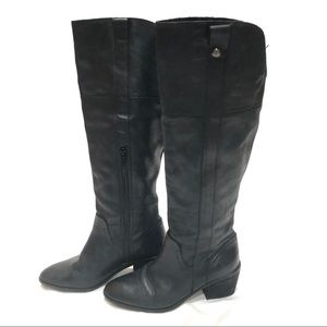 Vince Camuto black tall riding boots 6.5